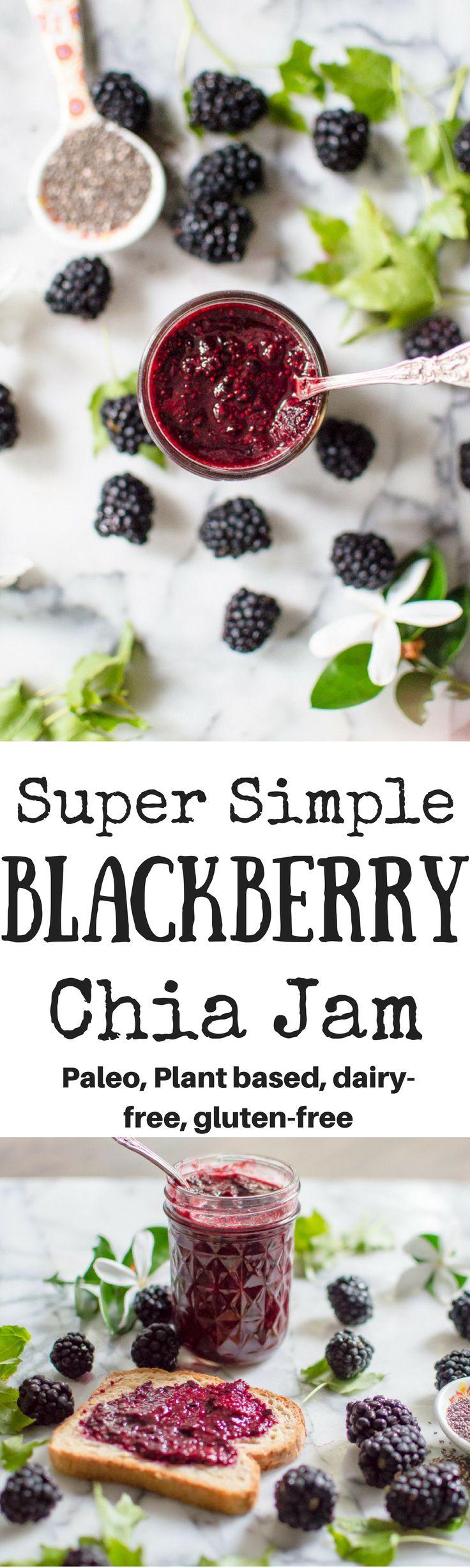Super Simple Blackberry Chia Jam