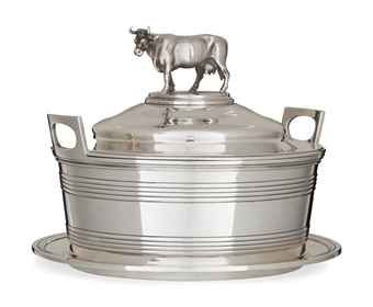 A GEORGE IV SILVER BUTTER DISH AND STAND  MARK OF MESSRS BARNARD, LONDON, 1829  Price realised  GBP 1,625