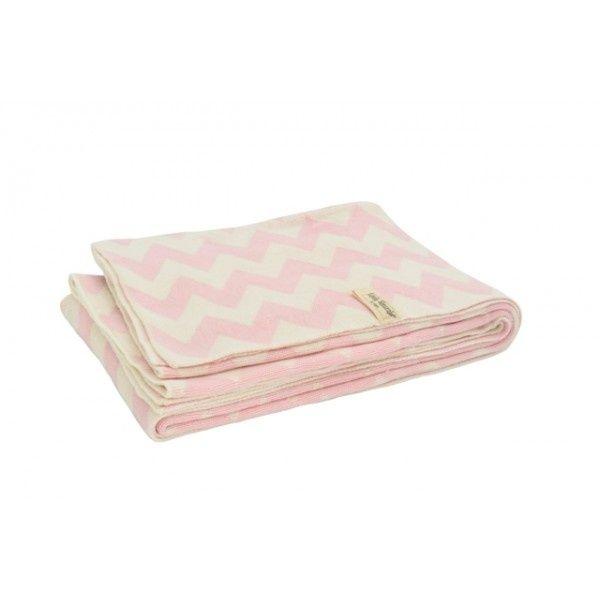 Deken Chevron pink/off-white 75x100cm | merk: Little Naturals | Beddengoed & slaapzakken | De kleine geluksvogel