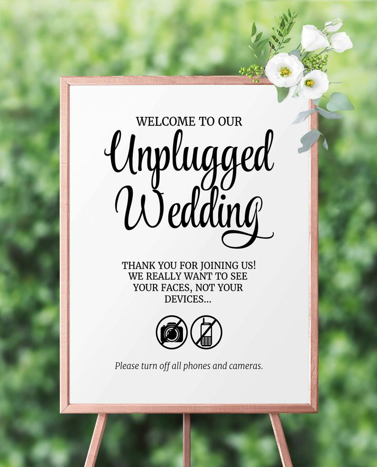 printable wedding place cards vintage%0A Unplugged Wedding Sign  Unplugged Ceremony Sign  Printable Unplugged Wedding  Reception sign  Wedding service
