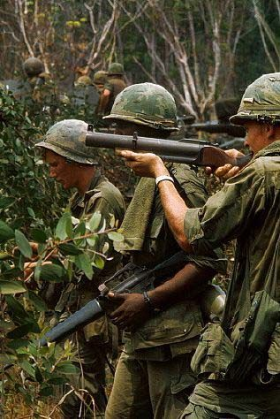 Vietnam War - M-79 grenade launcher, aka, the Blooper or Blooker, due to the sound made when fired. Deadly with right guy.