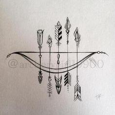 tattoo flecha - arco                                                                                                                                                                                 More