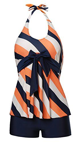 MiYang Women's Two Pieces Stripes Slim Tankini Suit Bathing Swimwear Special Offer: $28.58 288 Reviews Size: Tag Size M=US Size S(2-4) Tag Size L=US Size M(6-8) Tag Size XL=US Size L(10-12) Material: Nylon;DacronWell-Made, Good Workmanship, Great ValueWashing Suggestion:...