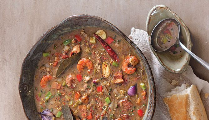 Oyster and Seafood Gumbo Recipe - Lousiana Cookin' - would probably reduce shrimp cooking time to 5 minutes with the oysters, buy dayum!