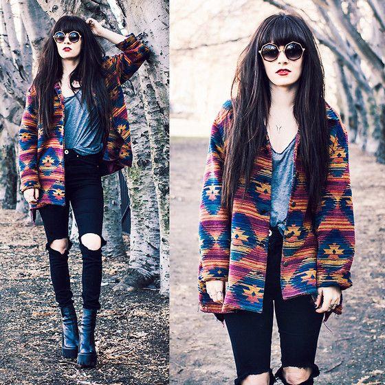 Rachel-Marie Iwanyszyn - Glasses, Vintage Jacket, Jeffrey Campbell Boots - IS THAT SEAT TAKEN?