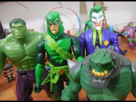 Arqueiro Verde Green Arrow Seta Verde Hulk X Coringa Joker Crocodilo Cro...
