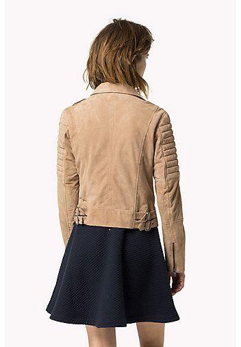 HILFIGER DENIM Suede Biker Jacket - NATURAL - HILFIGER DENIM Coats & Jackets - detail image 1