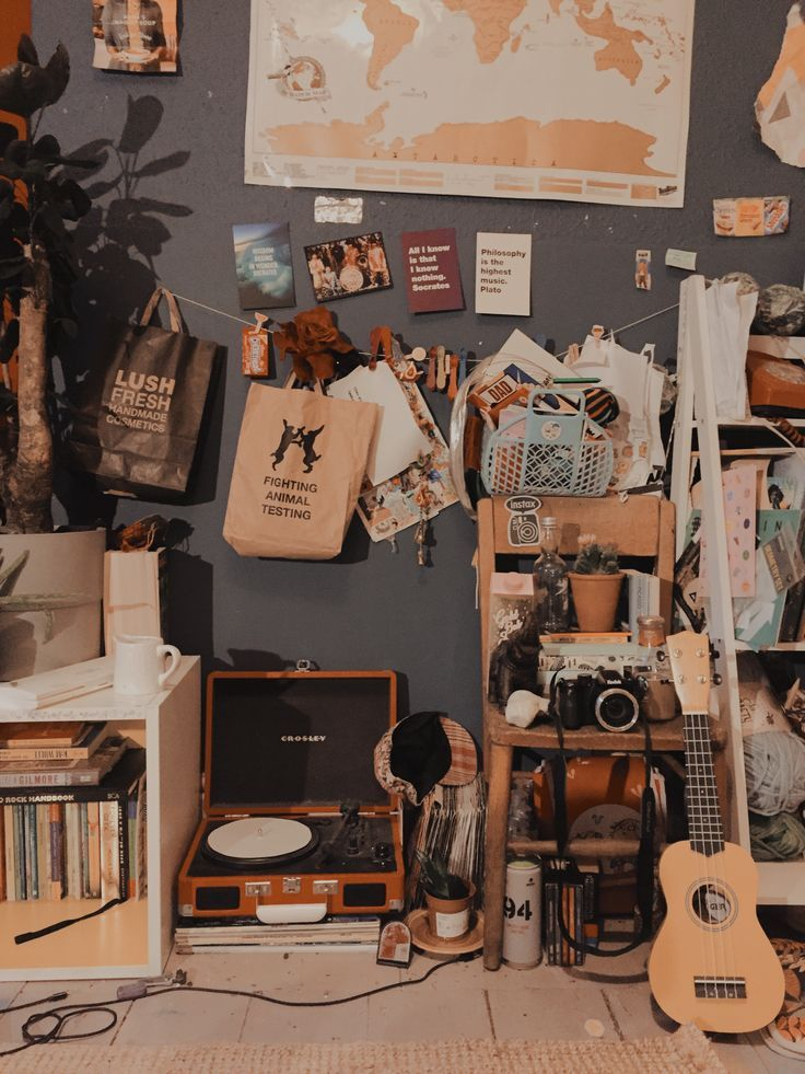 Das ist ziemlich chaotisch, aber mein Zimmer ist in Ordnung