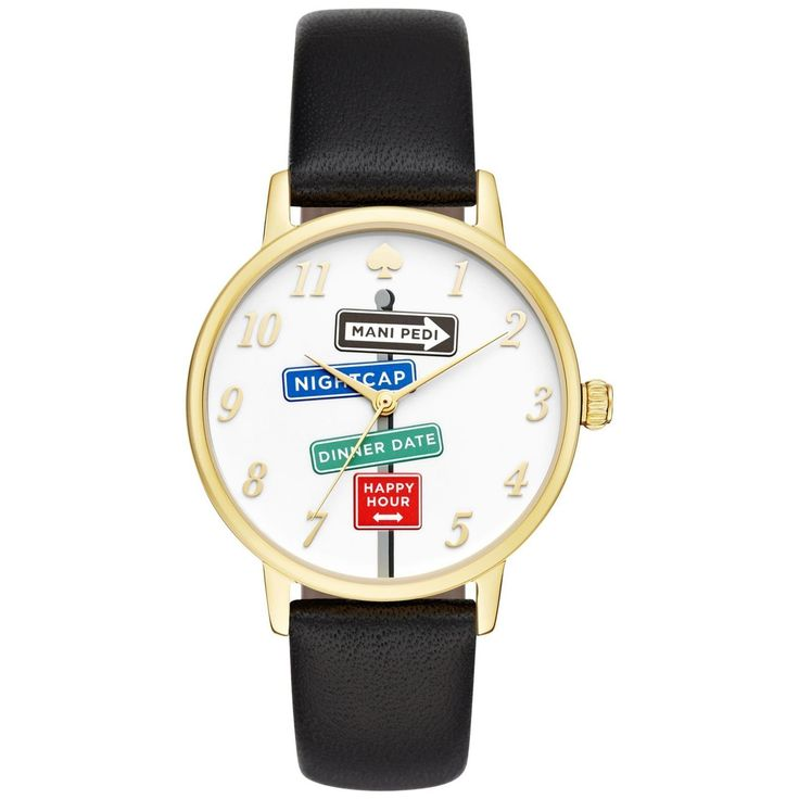 Crisp color and playful sophistication are the hallmarks of Kate Spade, a brand that encourages personal style with a dash of radiant charm. This women's watch from the Metro collection features a bla