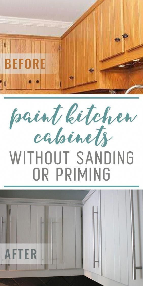 Learn how to paint kitchen cabinets without sanding or ...