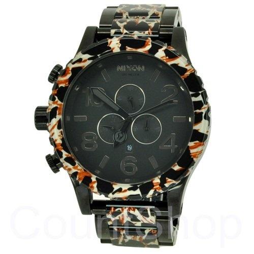 Nixon 51-30 Chrono Watch - Men's All Black/Leopard, One Size $284.95 http://amzn.com/B00869525U #MenWatch