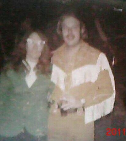 """Hank Jr & Bobbie Hatfield Harris (fan) at Country Star in Kennasaw, Georgia on her birthday in 1974. Hank Jr said """"Happy Birthday"""" to her there."""