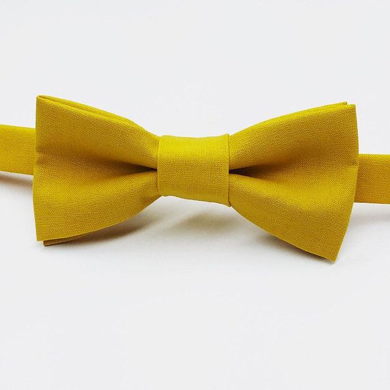 Mustard Bow tie, Yellow Bow tie, Dark Yellow Bow tie, Gold Bow tie by FlyTiesforFlyGuys