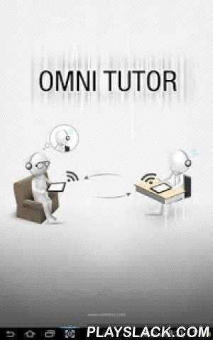 "Omni Tutor  Android App - playslack.com ,  [옴니튜터앱 소개]""학생과 튜터 간의 모바일 커뮤니케이션 메신져와 데이터기반 질문이나 강의 저작용 툴""의 결합 OmniTutor는 데이터 기반의 동영상 질문이나 강의를 쉽게 저작하고, 학생과 튜터간에설정된 계정을 통해 쉽게 자료를 주고 받을 수 있도록 해주는 모바일앱입니다. 학생이 스스로 학습을 하면서 숙제나 질문을 튜터에게 보내면, 튜터는 학생의 질문에 답을 하거나 오답을 check 하는 맞춤형 강의를 만들어서 학생에게 실시간으로 전송합니다. 이러한 쌍방향 커뮤니케이션을 통해 학생과 튜터는 언제 어디서든지 옆에서 함께 공부하는 것같은 현장감을 느낄 수 있으며 학생의 학습효과는 증대 될 것입니다. [주요 특징] 1. 간단한 클래스 관리 기능 - 클래스 관리자 (튜터)가 쉽게 클래스와 그룹을 만들고 관리할 수 있음 2. 쉽고 효과적인 강의 저작  - 동영상 방식이 아닌 데이터(핸드라이팅+음성) 방식…"