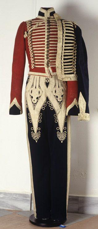 Доломан и ментик рядового, чакчиры унтер-офицера Изюмского гусарского полка 1810 — 1820