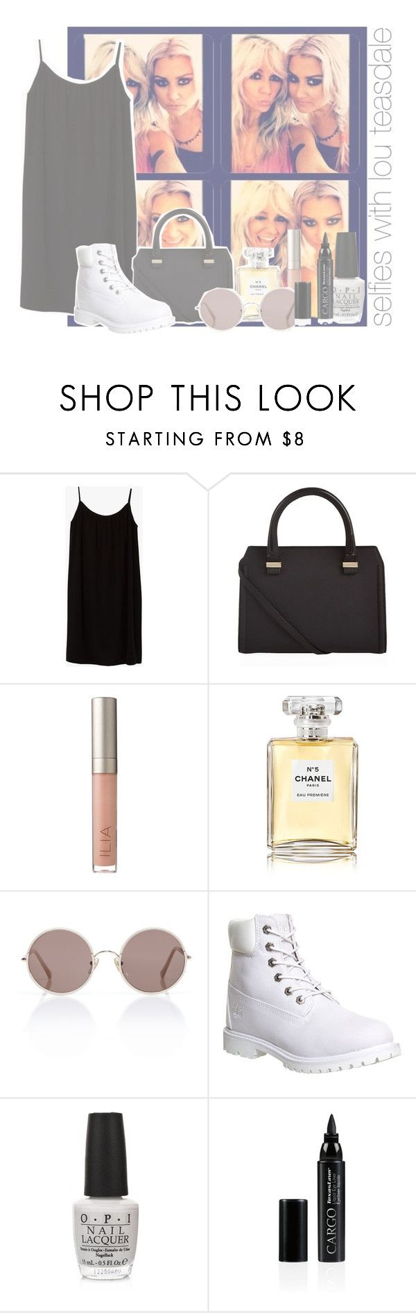 """selfies with lou teasdale"" by rosa-brooks ❤ liked on Polyvore featuring Azalea, Victoria Beckham, Ilia, Chanel, Sunday Somewhere, Timberland, OPI and CARGO"