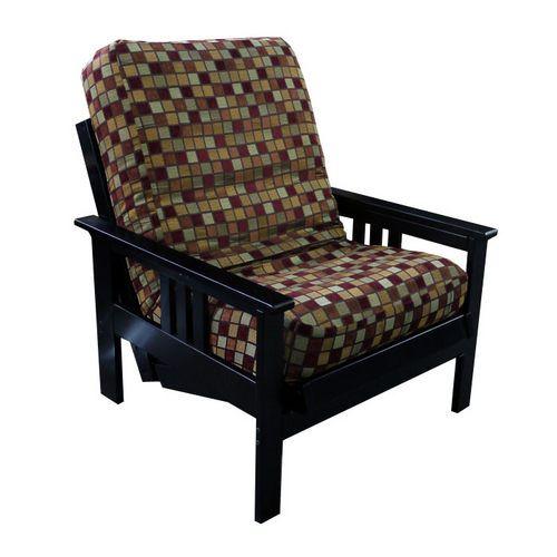 monterey futon chair with your choice of chair mattress  v  ce ne   25 nejlep    ch n  pad   na pinterestu na t  ma futon chair