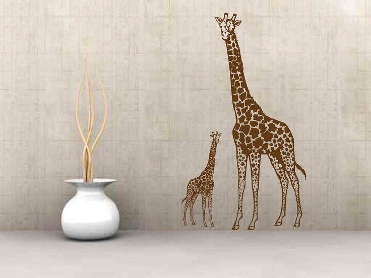 Wandtattoo Flur Wohnzimmer Afrika Giraffe Tiere