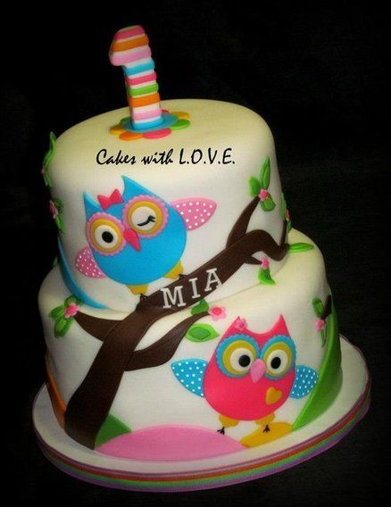 The Icing Artist Owl Cake