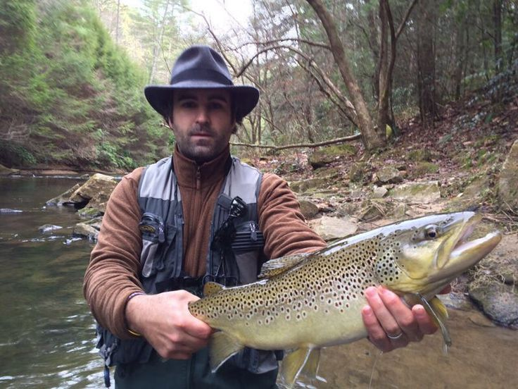 My brother in georgia big trout river fishing for Trout fishing in ga