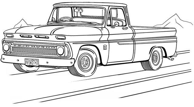 Unique Old Chevy Truck Coloring Page Truck Coloring Pages Cars Coloring Pages Monster Truck Coloring Pages