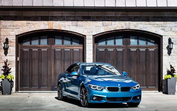 Download wallpapers BMW 440i Cabriolet, 4k, 2018 cars, BMW M4, F82, german cars, BMW