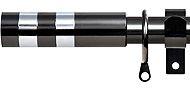 Renaissance 19/16mm Extensis Extendable Curtain Pole Black Nickel, Coloured Cylinder