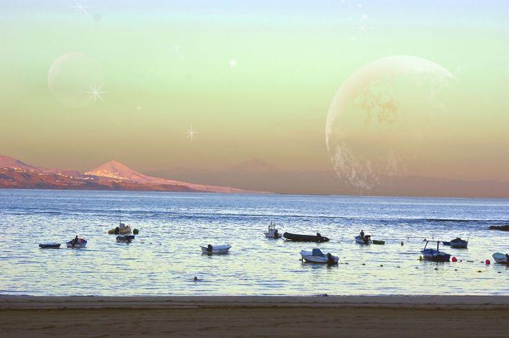 Vista puntilla en Playa de las Canteras. Image de C.S.