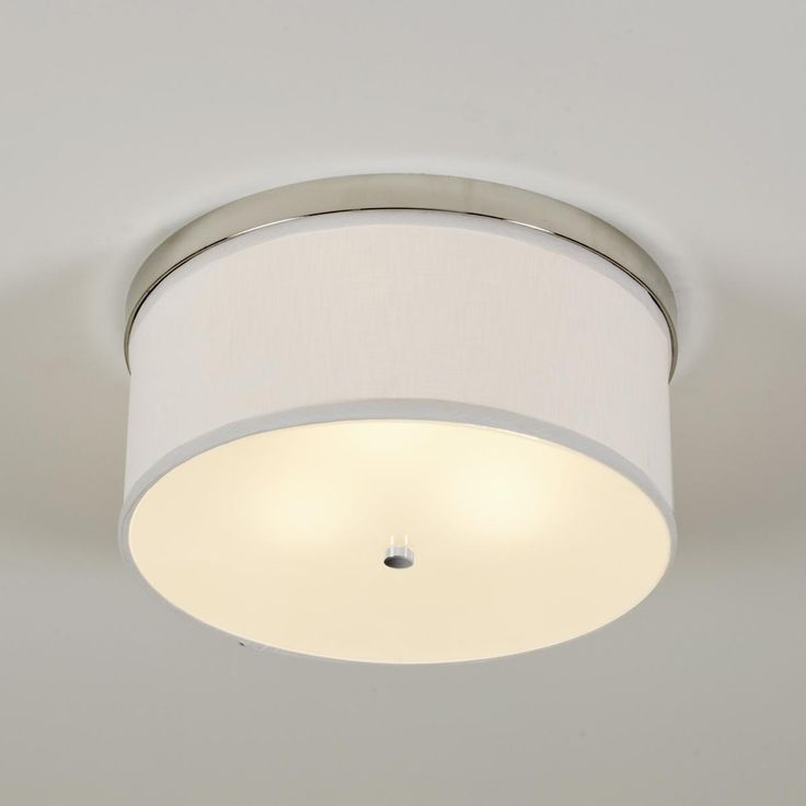 Springfield Linen Shade Ceiling Light (3 finishes)