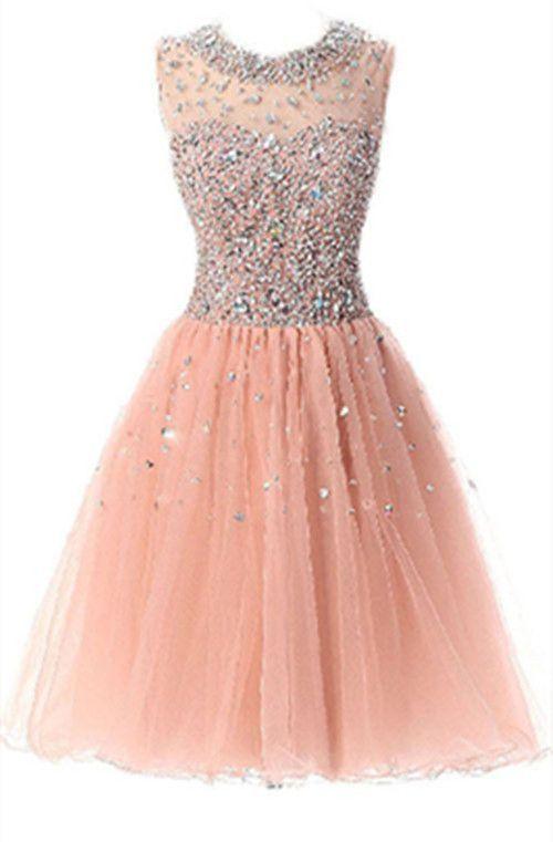 Elegant Short Homecoming Dresses with Beading Formal