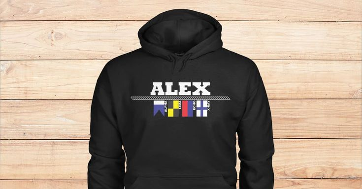 SPECIAL BLACK HOODIES FOR ALEX. Are you Alex? Please checkout on Viralstyle!#names #namesalex #alexhoodies #alex #alphabetflagshoodies #nauticalflagshoodies