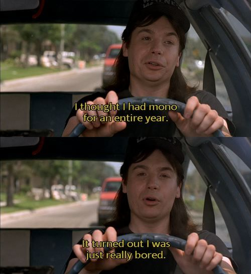 Wayne's World! I have seen it so many times I know the script! Is that sad?