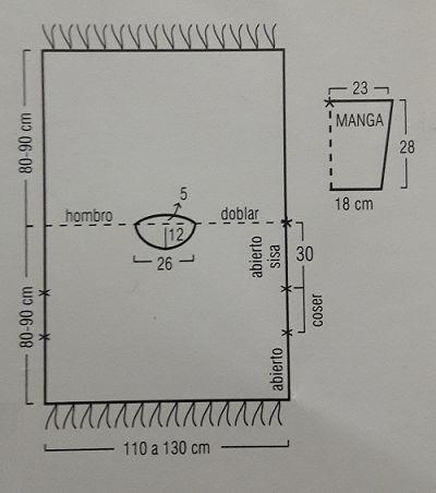 Patron-para-tejer-un-poncho-con-mangas-esquema.png (400×452)