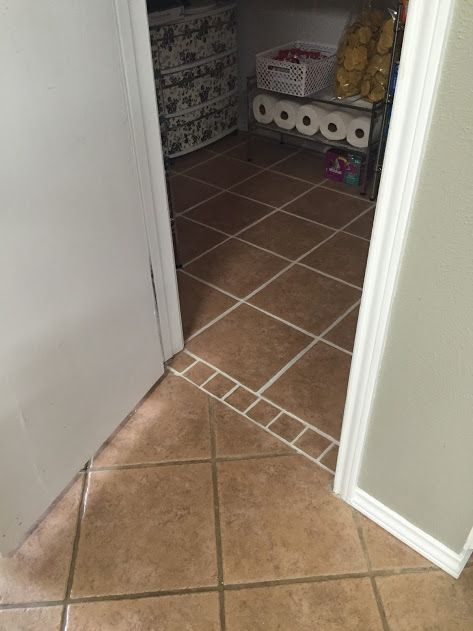 Thinking about doing all the grout in my house. I started with the just the pantry and I'll see how it wears! Polyblend Grout Renew in Bone.
