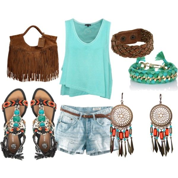 So cute!: Boho Summer, Spring Summ Outfits, Indian Summer, Dreams Closet, Bohemian Summer, Hippie Tribal, Summer Outfits, Hippie Look, Native American