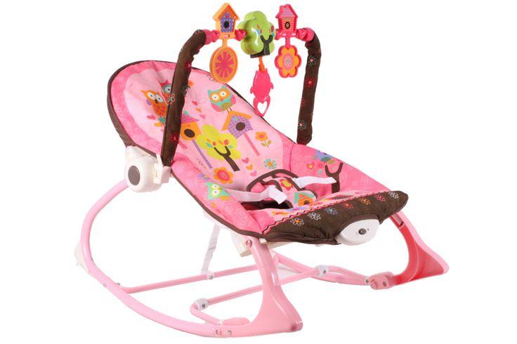 Leżaczek, bujaczek, fotelik dla dzieci SÓWKI 3w1