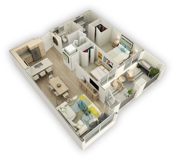 2 Bedroom Floor Plan At Westbourne New Westminster West End Apartments House Layout Plans Condo Floor Plans Modern House