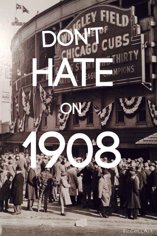 Don't hate on 1908- Chicago Cubs