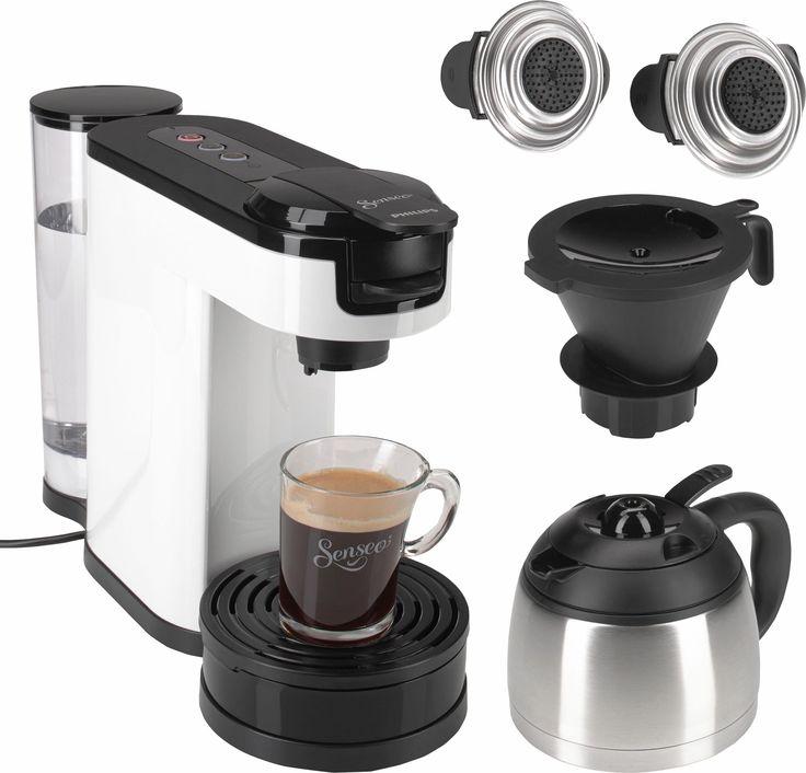 Simple K chenger t Die SENSEO Switch Kaffeepadmaschine von Philips bietet die Zubereitung von Filterkaffee oder Padkaffee auf Kn