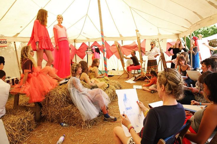 life drawing at Port Eliot festival, Cornwall