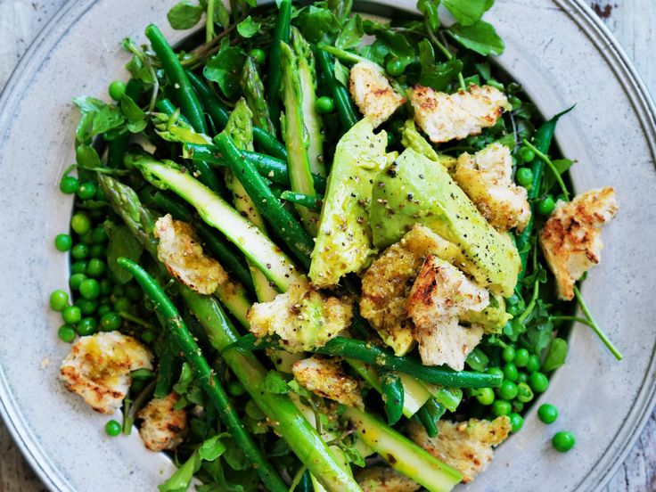 Topped with crispy croutons and wedges of avocado, this green salad is about as delicious and healthy as you can get.