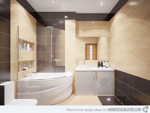 Bathroom Storage Ideas | Home Design Lover  Image: Svetlana Nezus A neat bathroom's secret is a good storage system. The tub part has a wall cabinet that is not only space-saving but also organizes one's toiletries.