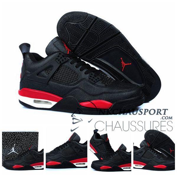 Nike Air Jordan 4 | Classique Chaussure De Basket Homme Noir-12