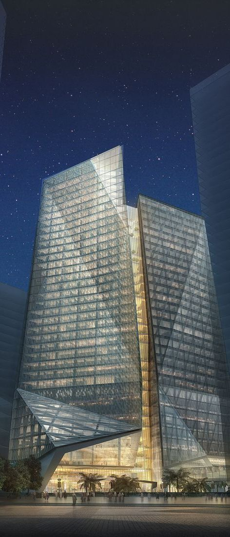 Samba Bank Tower, Riyadh, Saudi Arabia designed by HOK Architects :: 37 floors, height 165m :: proposal  Studio 4