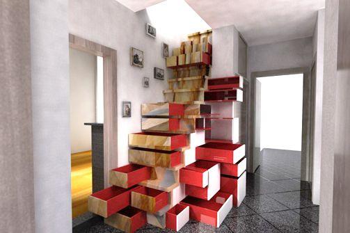 Eerste Hulp Bij Ontwerp: trap met laden