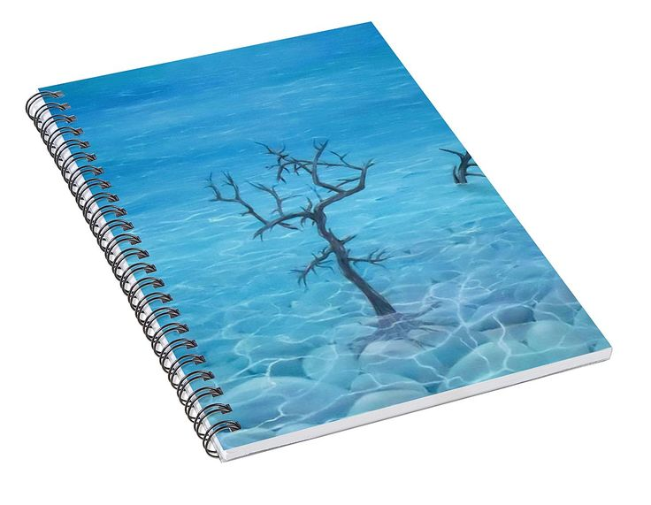 Spiral Notebook,  stationery,school,supplies,cool,unique,fancy,trendy,awesome,beautiful,design,unusual,modern,artistic,for,sale,items,products,office,organisation,nature,coastal,sea,tree,blue