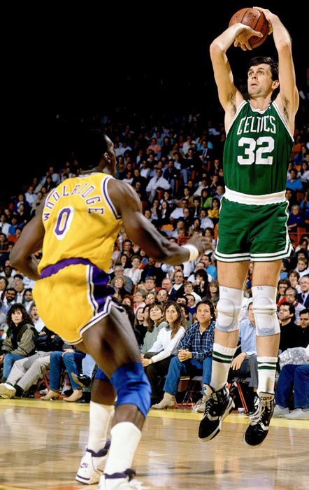 Someone who can go operate the toture chamber...Kevin McHale shoots over Orlando Woolridge