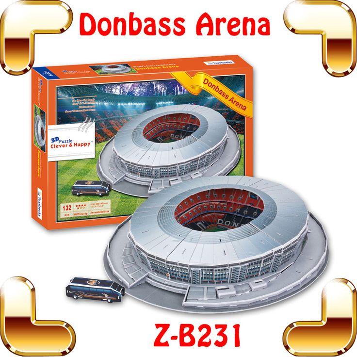 Новогодний подарок Bonbass арена 3D головоломка модель здания футбольный стадион шаг бумаги DIY футбол сувенир собрали