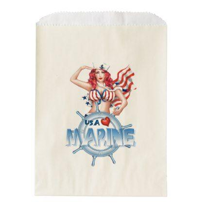 #SEXY MARINE PIN UP CARTOON   bag Ecru Favor - #giftideas for #kids #babies #children #gifts #giftidea
