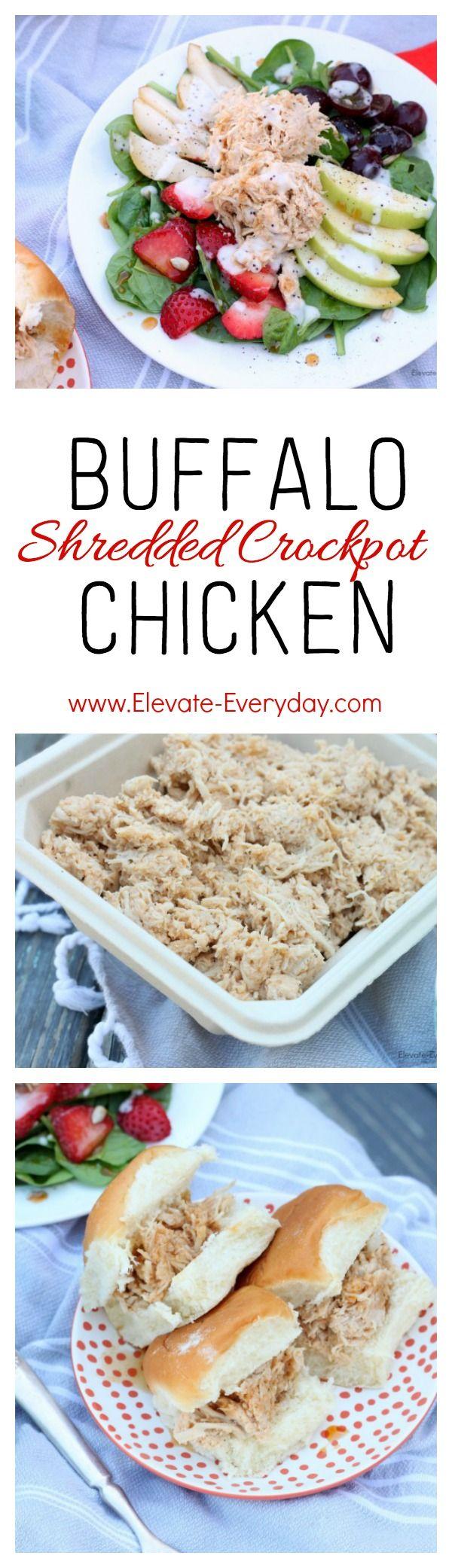 Shredded Buffalo Chicken Crockpot Recipe
